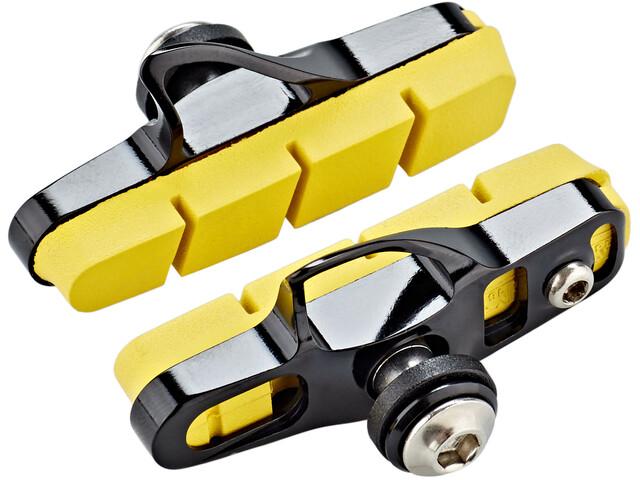 SwissStop Full FlashPro Pastillas Freno para Shimano/SRAM Carbono, yellow/black
